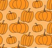 Halloween-Pompoen Vectorpatroon Eenvoudige illustratie van Halloween-pompoenen voor Web-pagina achtergrond, verpakkend document Stock Fotografie