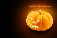 Halloween-pompoenachtergrond Stock Afbeeldingen