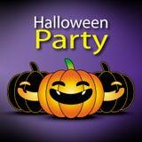 Halloween-pompoenachtergrond, kader en grens Stock Foto