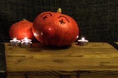 Halloween-pompoenclown royalty-vrije stock foto's