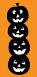 Halloween-Pompoenen Stock Afbeeldingen