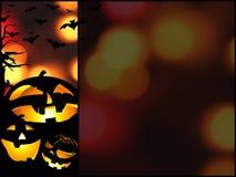 Halloween-pompoenen achtergrondillustratie met plaats voor tekst Royalty-vrije Stock Foto