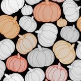 Halloween-pompoenen naadloos vectorpatroon Oktober-behang stock fotografie