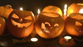 Halloween-pompoenenclose-up stock video