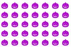 Halloween-pompoenenpatroon Velen de enge achtergrond van pompoengezichten vector illustratie