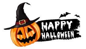 Halloween-pompoenetiket Stock Fotografie