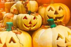 Halloween-pompoenhoofd Royalty-vrije Stock Afbeelding