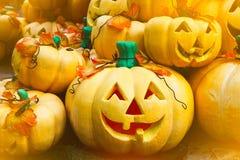 Halloween-pompoenhoofd Royalty-vrije Stock Foto