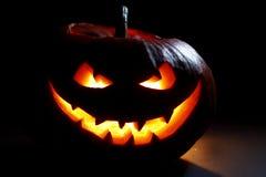 Halloween-pompoenhoofd Stock Foto's