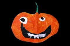 Halloween-pompoenhoofd Royalty-vrije Stock Afbeeldingen