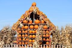 Halloween-Pompoenhuis Stock Afbeelding