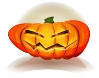 Halloween-Pompoenkarakter Stock Afbeelding