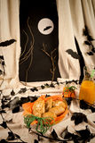 Halloween-pompoenkoekjes Royalty-vrije Stock Foto's