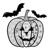 Halloween-Pompoenkrabbel Royalty-vrije Stock Fotografie