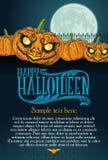 Halloween-pompoenmaan Stock Foto's