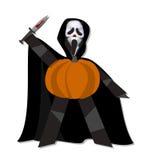 Halloween-pompoenmens Stock Afbeelding