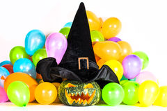 Halloween-Pompoenpartij Stock Afbeelding