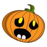 Halloween-pompoenpictogram, beeldverhaalstijl stock illustratie