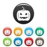 Halloween-pompoenpictogram, eenvoudige stijl stock illustratie