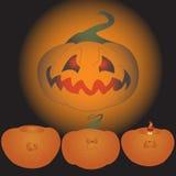Halloween-pompoenreeks Stock Afbeeldingen