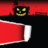 Halloween-pompoenvector met tearing document Royalty-vrije Stock Afbeeldingen