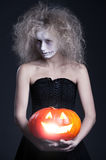 Halloween portrait of ghost Royalty Free Stock Image