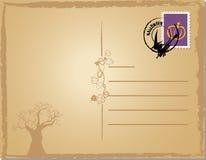 Halloween post card. Vector illustration of halloween post card Stock Photo
