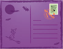 Halloween post card. Vector illustration of halloween post card Royalty Free Stock Photography