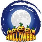 Halloween-post met pompoenen royalty-vrije illustratie