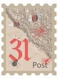 Halloween, postage stamp, vintage style Royalty Free Stock Photos