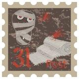 Halloween, postage stamp, vintage style Stock Image