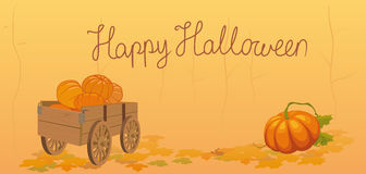 Halloween postcard Royalty Free Stock Photography