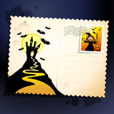 Halloween postcard Stock Image