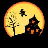 Halloween Postcard Royalty Free Stock Photos