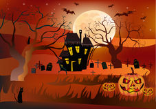 Halloween , postcard . Stock Photo