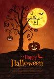 Halloween postcard Stock Image