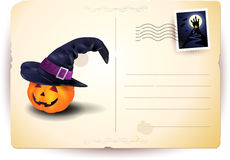 Halloween postcard. With copyspace, illustration Royalty Free Stock Photos