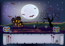 Halloween , postcard . Royalty Free Stock Photo