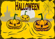 Halloween , postcard . Royalty Free Stock Photos