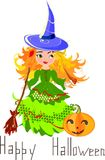 Halloween postcard Stock Photo