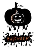 Halloween postcard.Vector Royalty Free Stock Photography