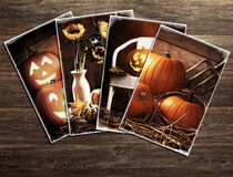Halloween Postcards Stock Photos