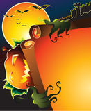 Halloween poster. An illustration of halloween copy space Stock Photography