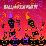 Halloween-Poster Lizenzfreies Stockfoto