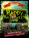 Halloween poster background. EPS 10 Stock Photography