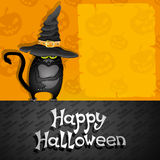 Halloween poster. Black cat. Royalty Free Stock Photography