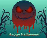 Halloween poster. Bloody moon Stock Image