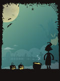 Halloween poster 01 Stock Images
