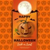 Halloween poster design with Jack o lantern royalty free illustration