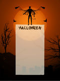 Halloween poster with devil and copy space Stock Photo